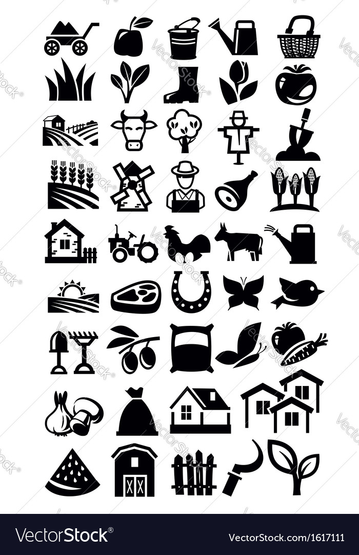 Farming icon vector | Price: 1 Credit (USD $1)