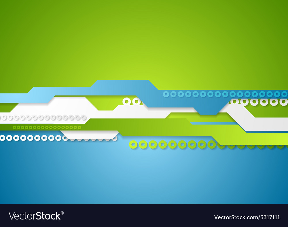 Green blue technology background vector | Price: 1 Credit (USD $1)