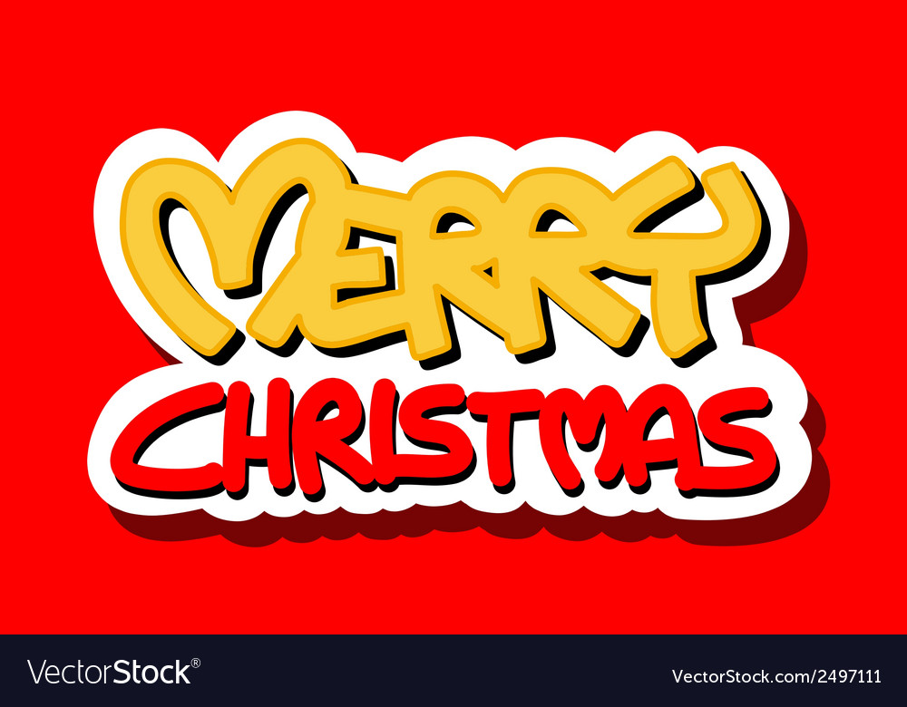 Merry christmas logo vector | Price: 1 Credit (USD $1)