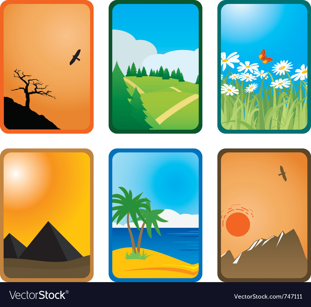 Nature cards vector | Price: 1 Credit (USD $1)