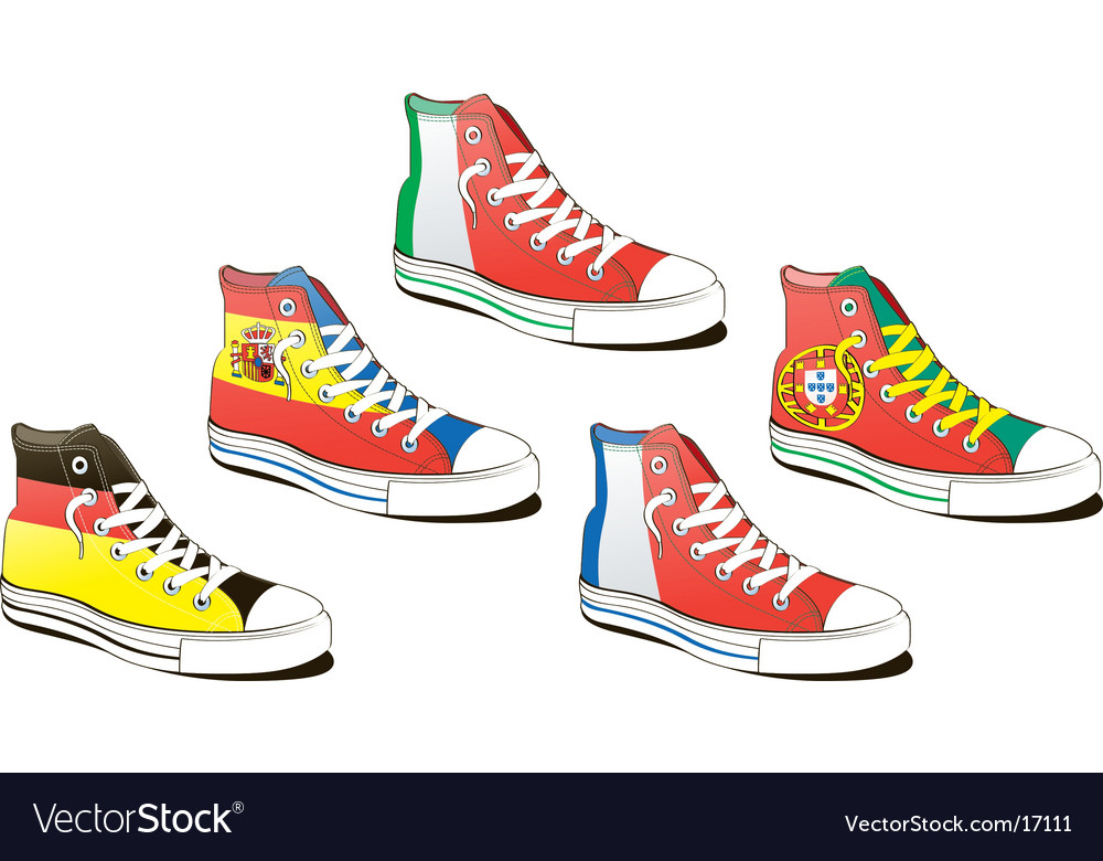 Shoe with flag vector | Price: 3 Credit (USD $3)