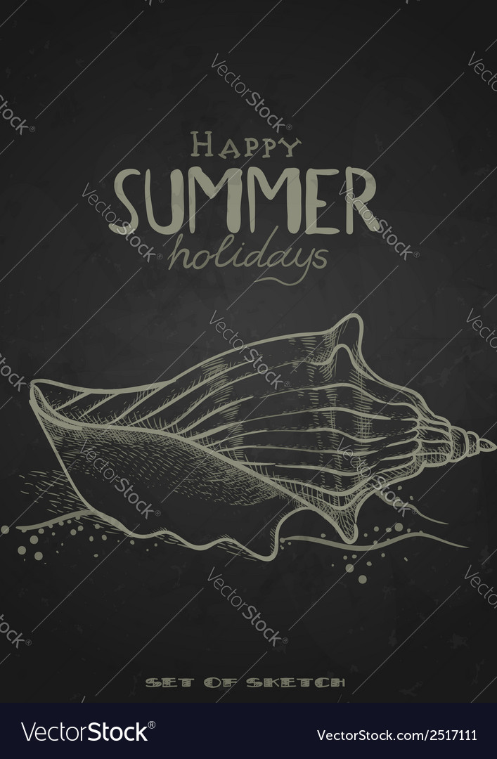 Stylized drawing with chalk on blackboard vector | Price: 1 Credit (USD $1)