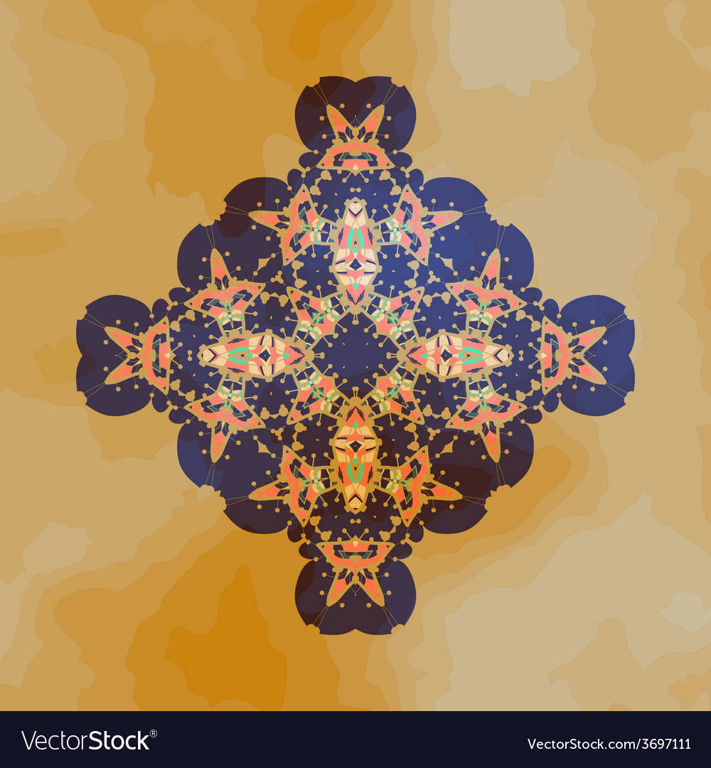 Tribal motif design mandala chakra yantra karma vector | Price: 1 Credit (USD $1)