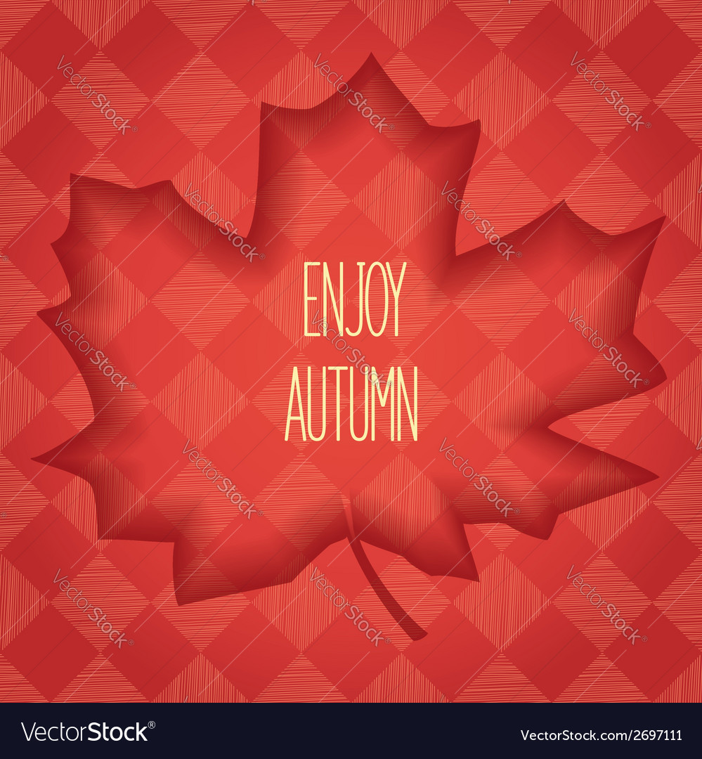 Volumetric maple leaf vector | Price: 1 Credit (USD $1)
