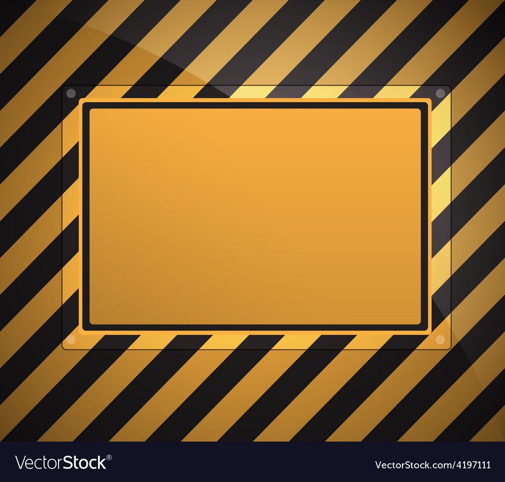 Warning sign background vector | Price: 1 Credit (USD $1)