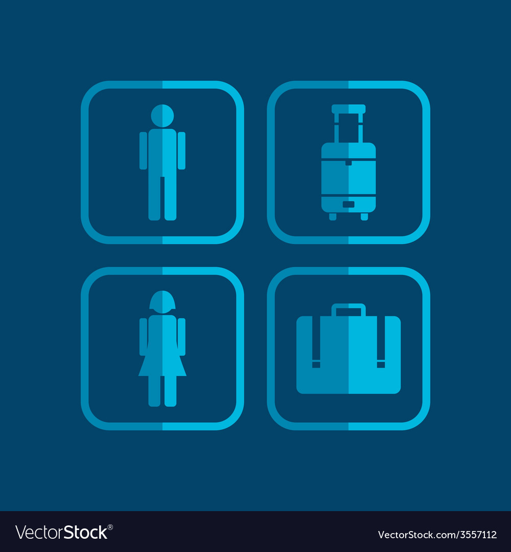 Airport icon theme vector | Price: 1 Credit (USD $1)