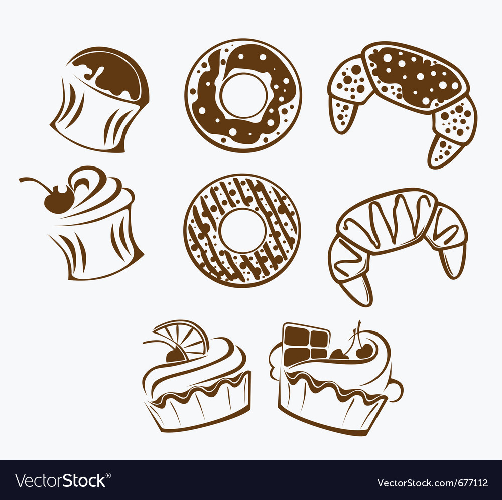 Bakery collection vector
