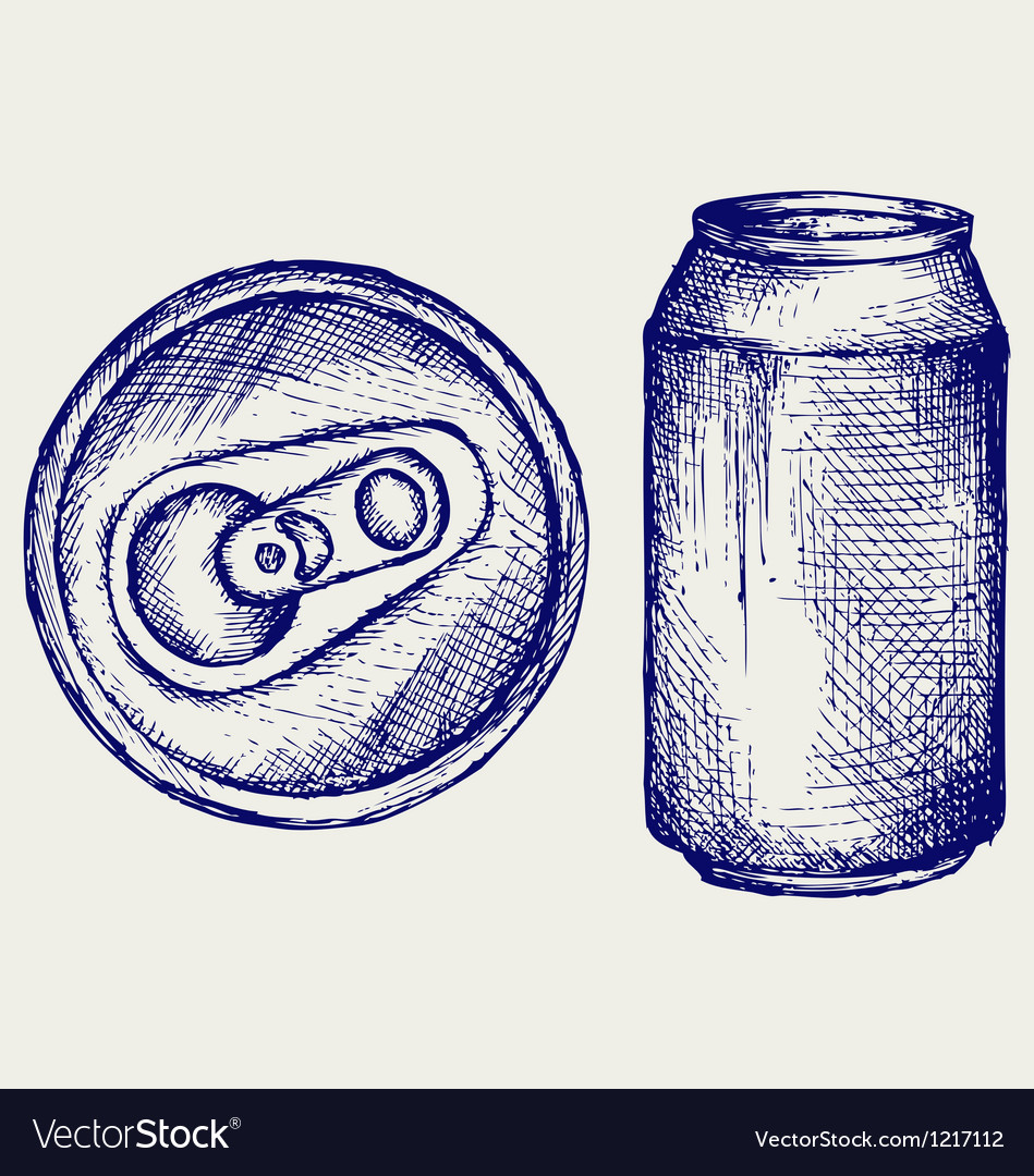 Beer can vector | Price: 1 Credit (USD $1)