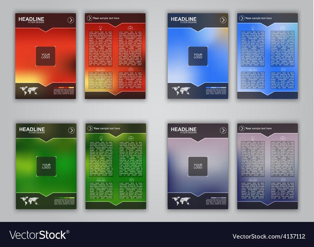 Blur flyer set vector | Price: 3 Credit (USD $3)
