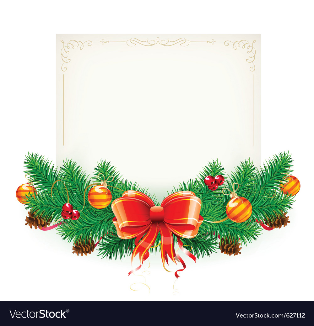 Christmas decorative frame vector | Price: 3 Credit (USD $3)
