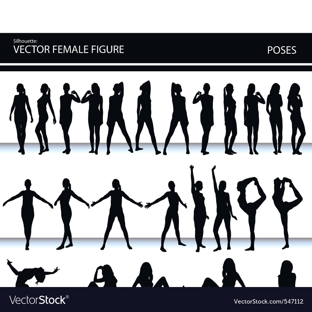 Female figures vector | Price: 1 Credit (USD $1)