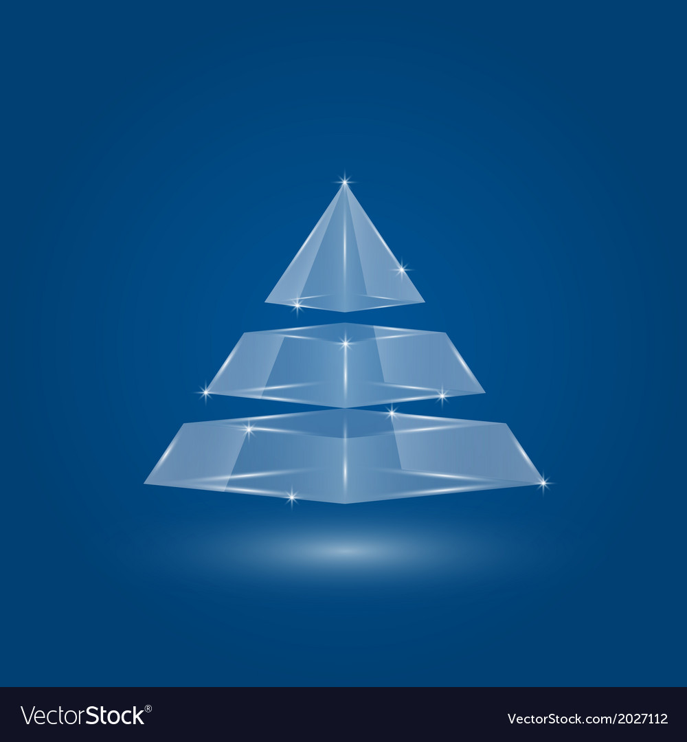 Glass pyramid infographic 2 vector | Price: 1 Credit (USD $1)