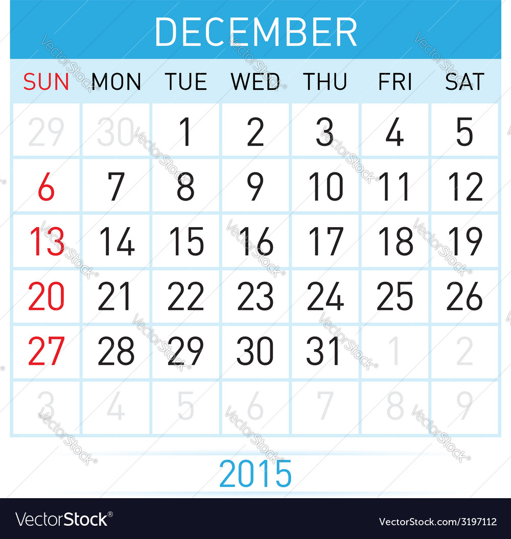 Monthly calendar vector | Price: 1 Credit (USD $1)