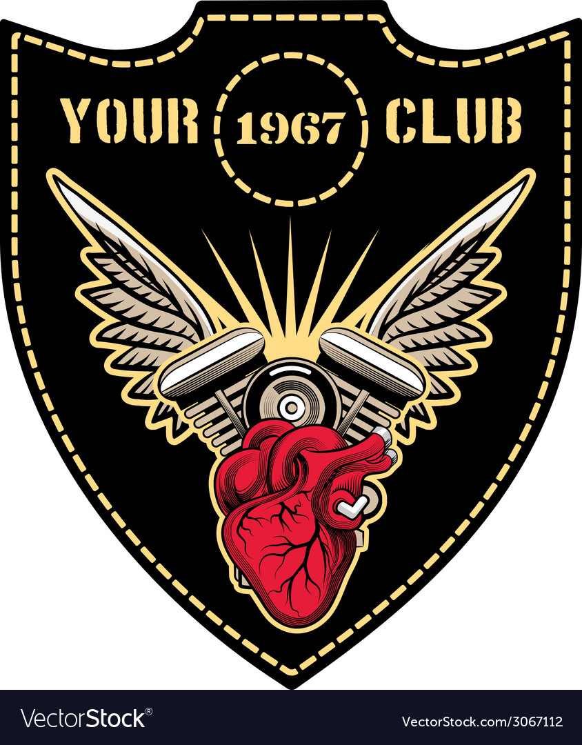 Motor club emblem vector | Price: 1 Credit (USD $1)