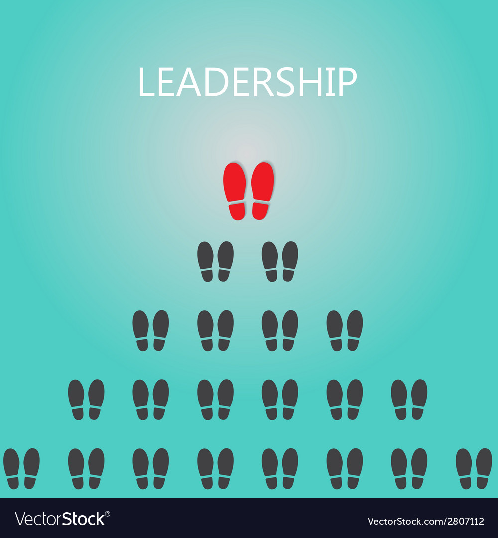 Shoe prints with leadership concept vector | Price: 1 Credit (USD $1)