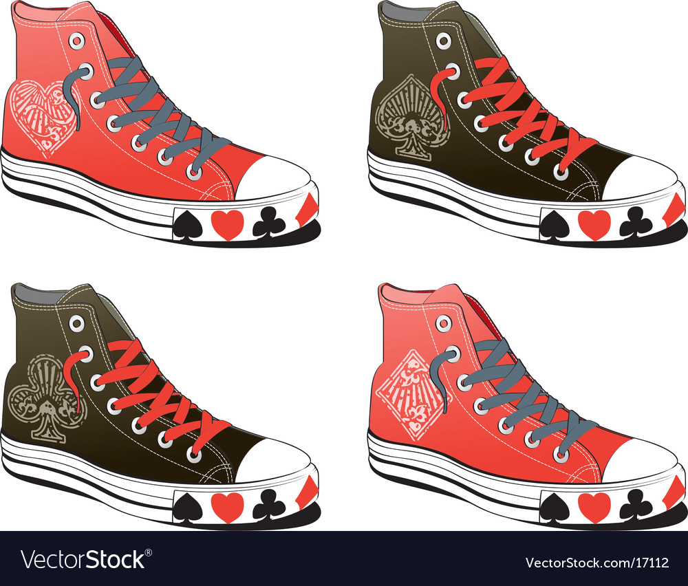 Shoes with poker symbol vector | Price: 3 Credit (USD $3)