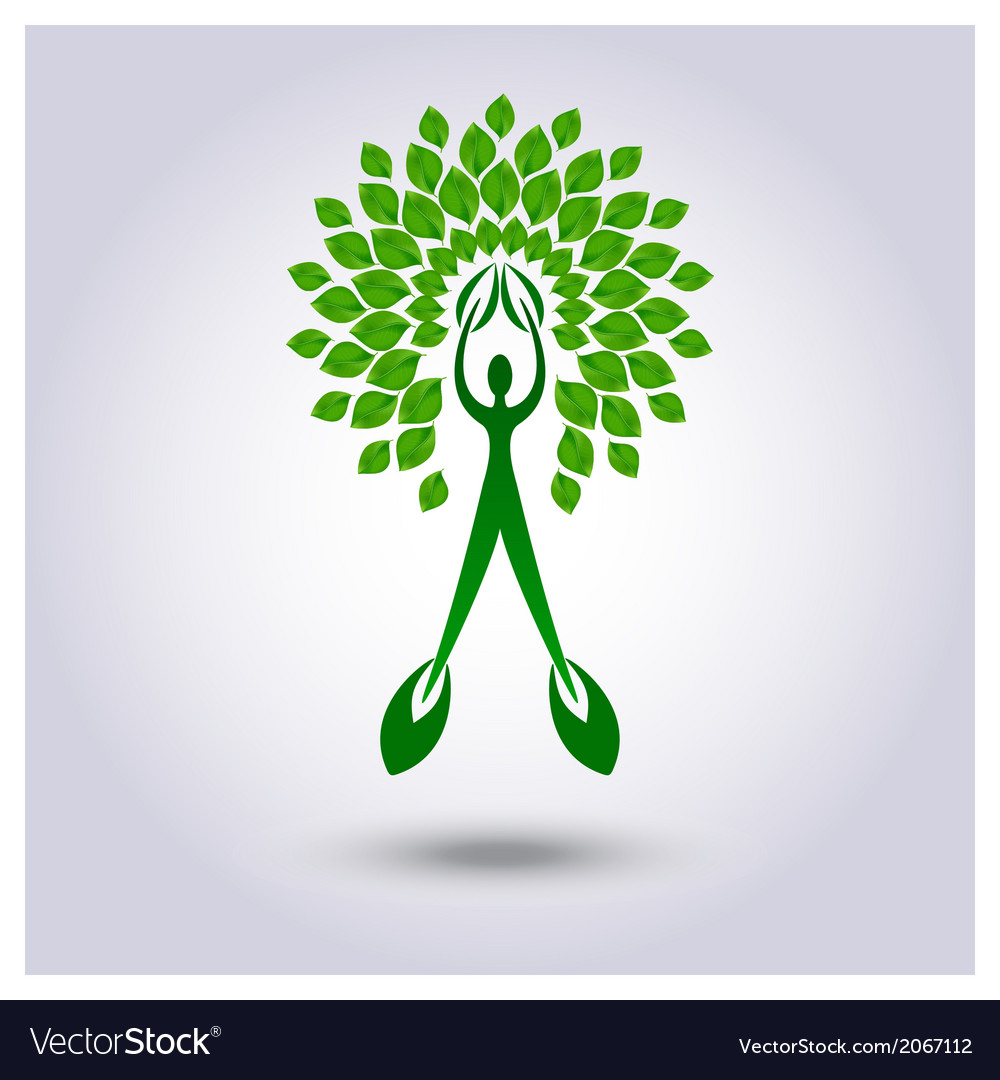 Tree with green leafage background vector | Price: 1 Credit (USD $1)