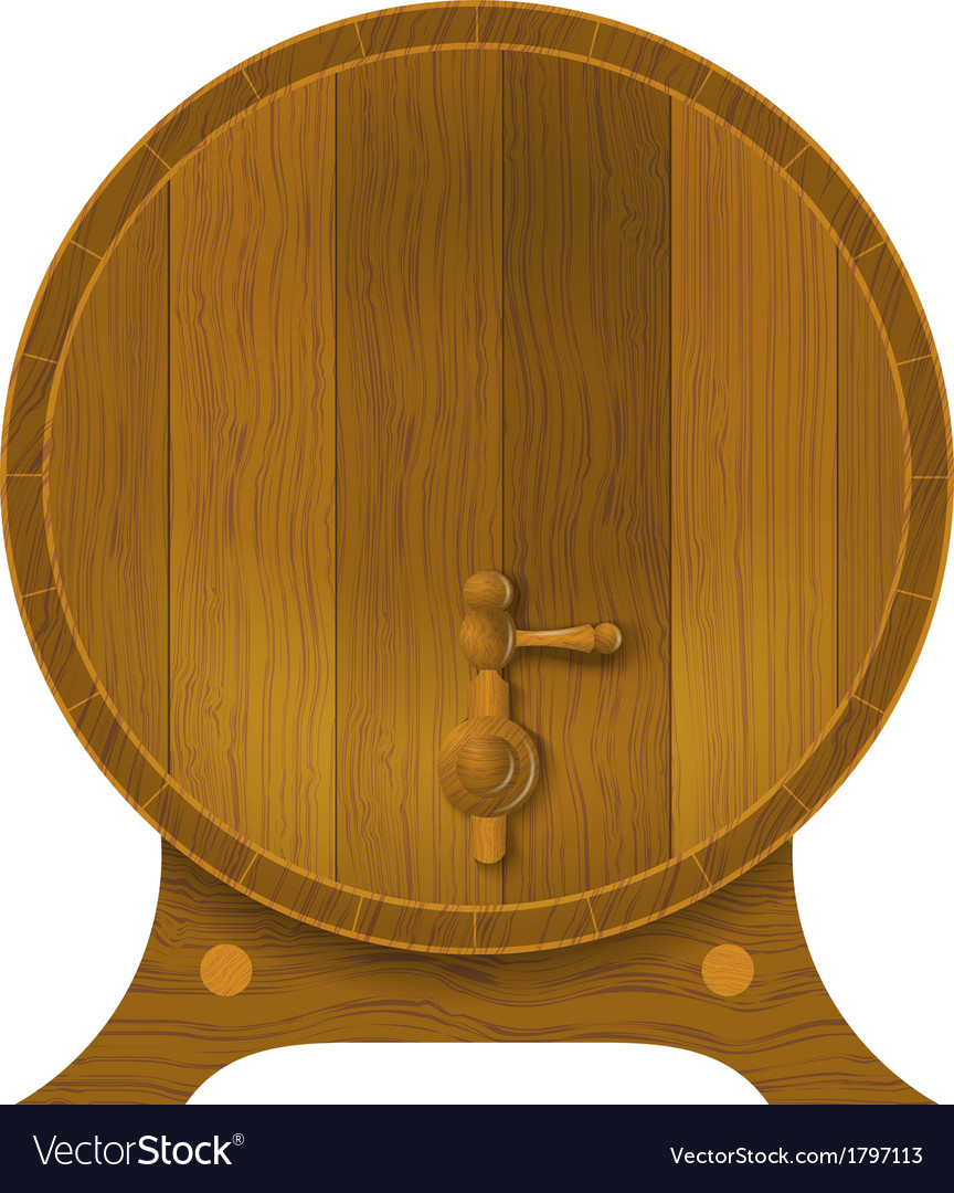 Ancient oak barrel vector | Price: 1 Credit (USD $1)
