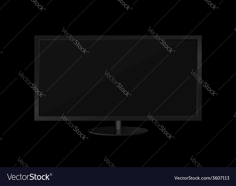 Flat tv screen vector | Price: 1 Credit (USD $1)