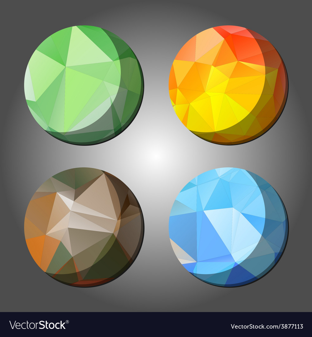 Four season abstract polygon rounds vector | Price: 1 Credit (USD $1)