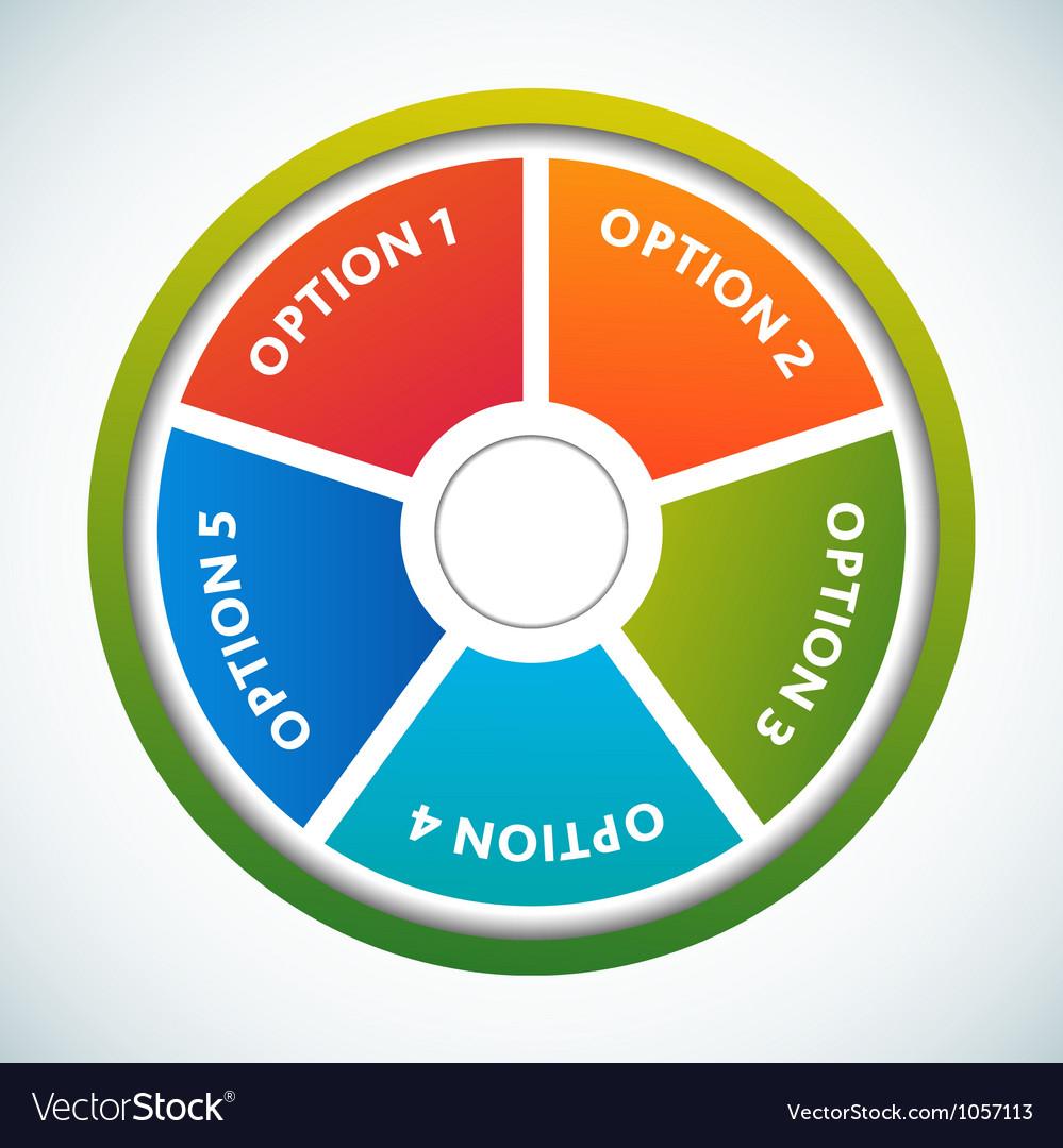 Multicolored presentation color circles template vector | Price: 1 Credit (USD $1)