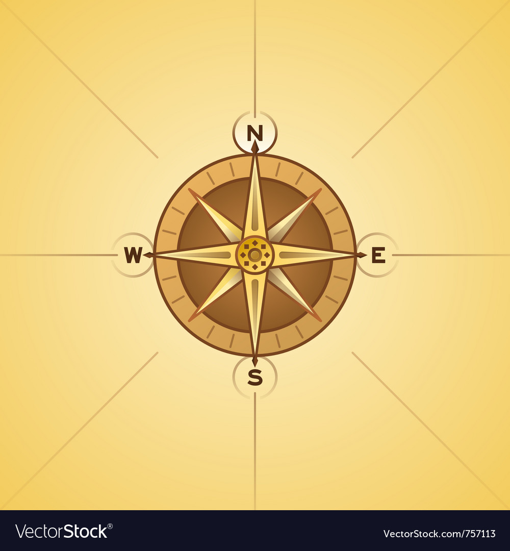 Nautical rose compass vector | Price: 1 Credit (USD $1)
