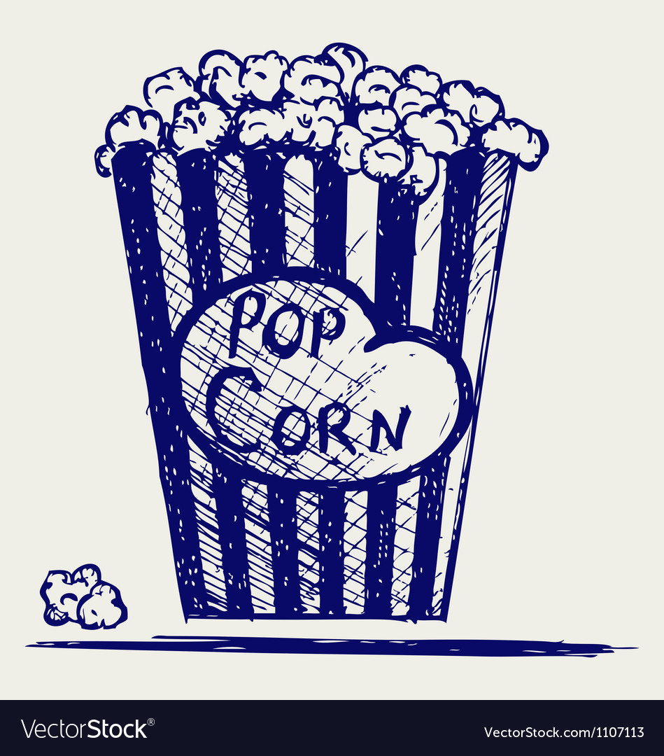 Popcorn exploding inside the packaging vector | Price: 1 Credit (USD $1)