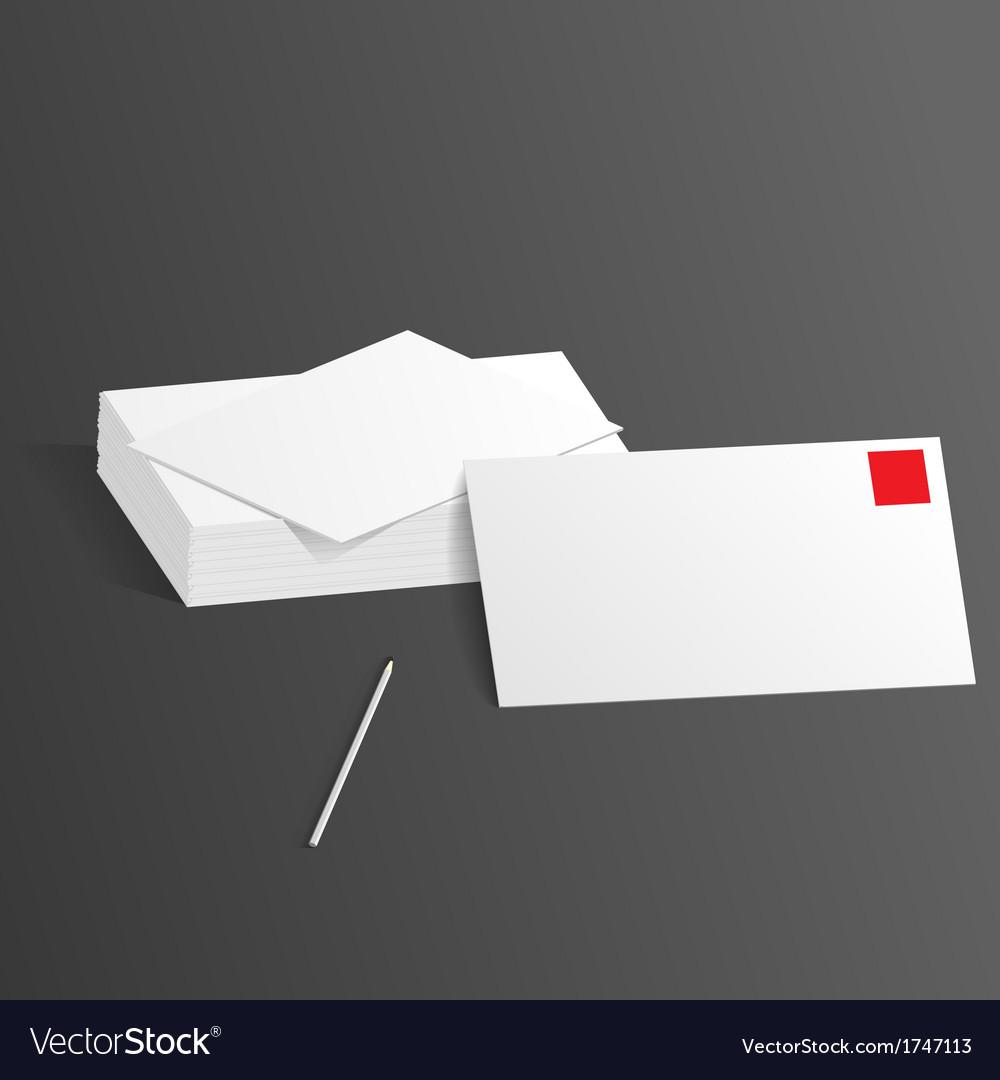 Presentation template letterheads pen vector | Price: 1 Credit (USD $1)
