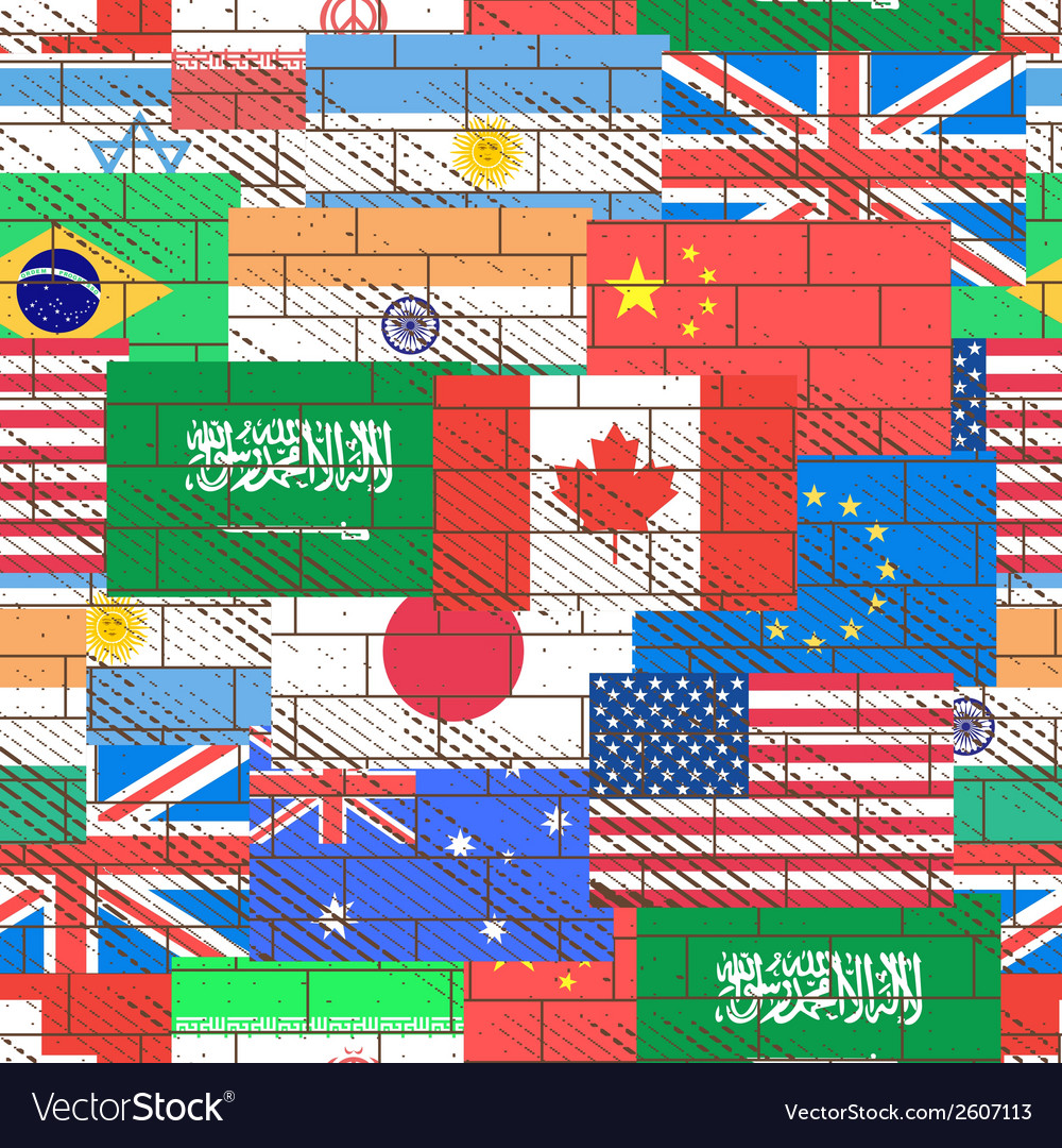 Seamless background of flags vector | Price: 1 Credit (USD $1)