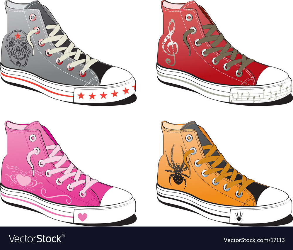 Shoes with various symbol vector | Price: 3 Credit (USD $3)