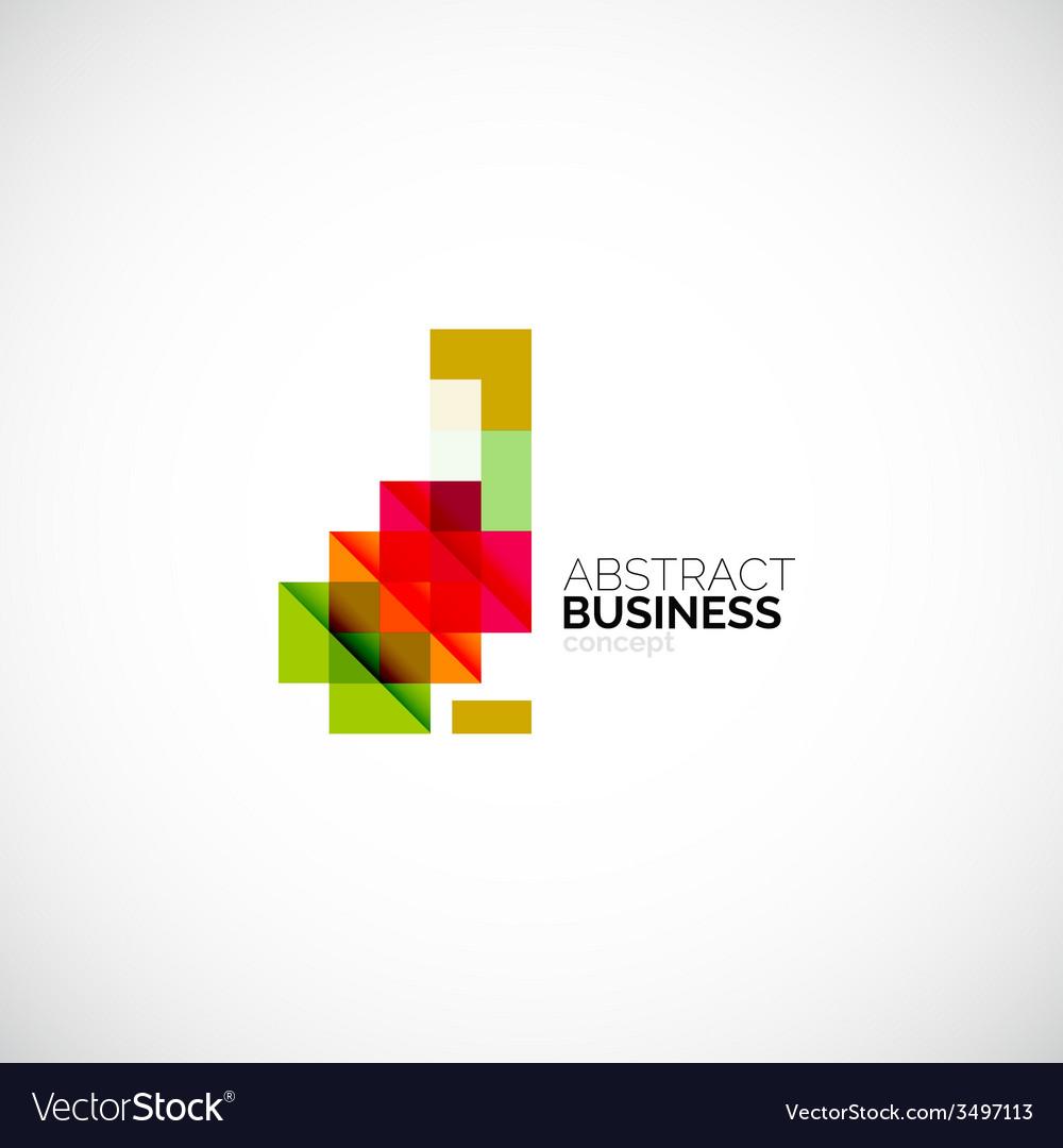 Square concept company logo design element vector | Price: 1 Credit (USD $1)