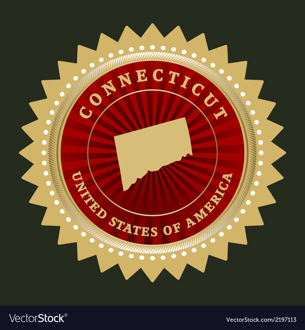 Star label connecticut vector | Price: 1 Credit (USD $1)