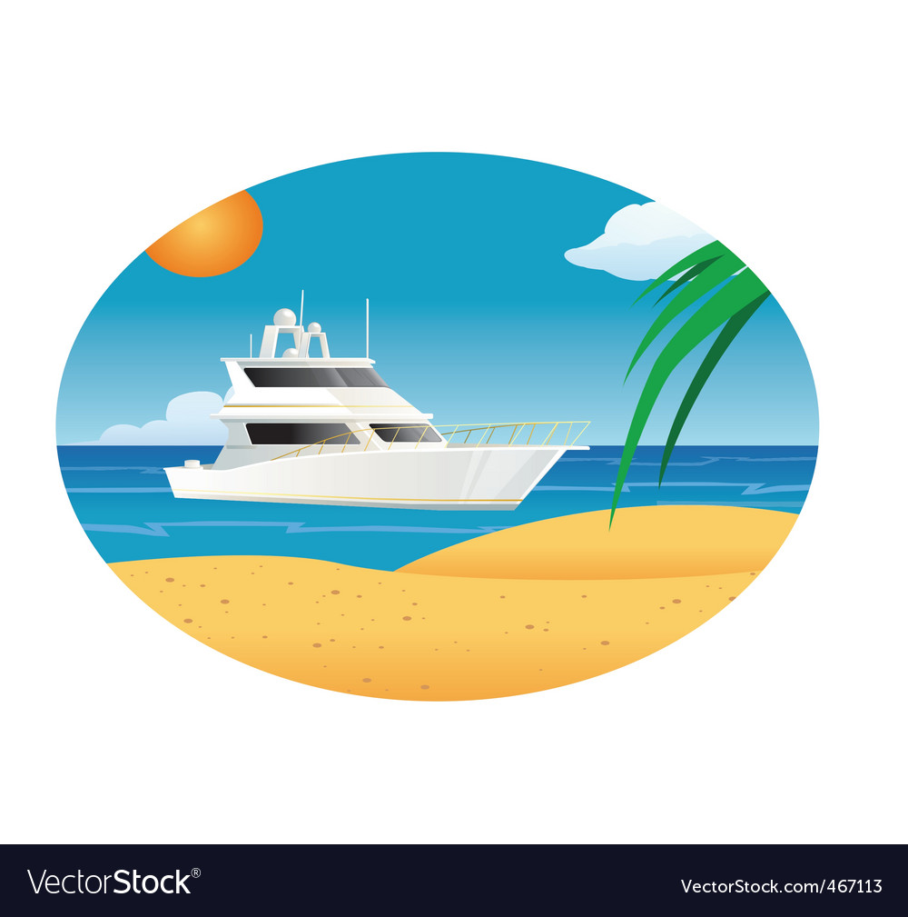 Yacht ocean vector | Price: 1 Credit (USD $1)