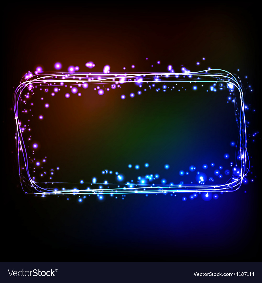 Abstract dark background with color light frame vector | Price: 3 Credit (USD $3)