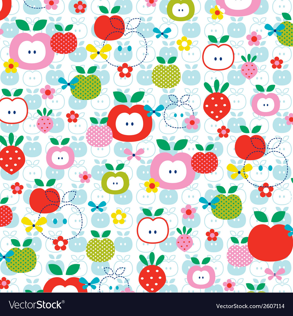 Apple strawberry vector | Price: 1 Credit (USD $1)