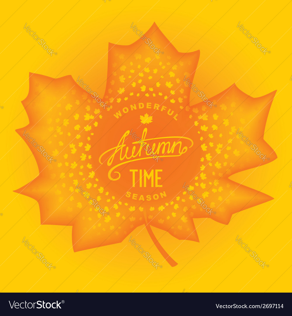 Autumn abstract carving maple vector | Price: 1 Credit (USD $1)