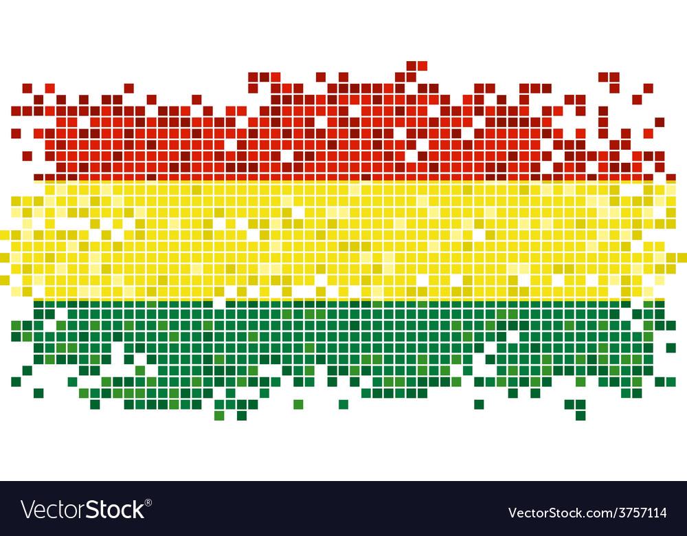 Bolivian grunge tile flag vector | Price: 1 Credit (USD $1)