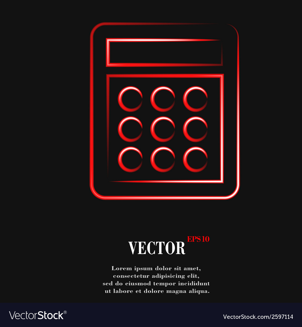 Calculator flat modern web button and space for vector   Price: 1 Credit (USD $1)