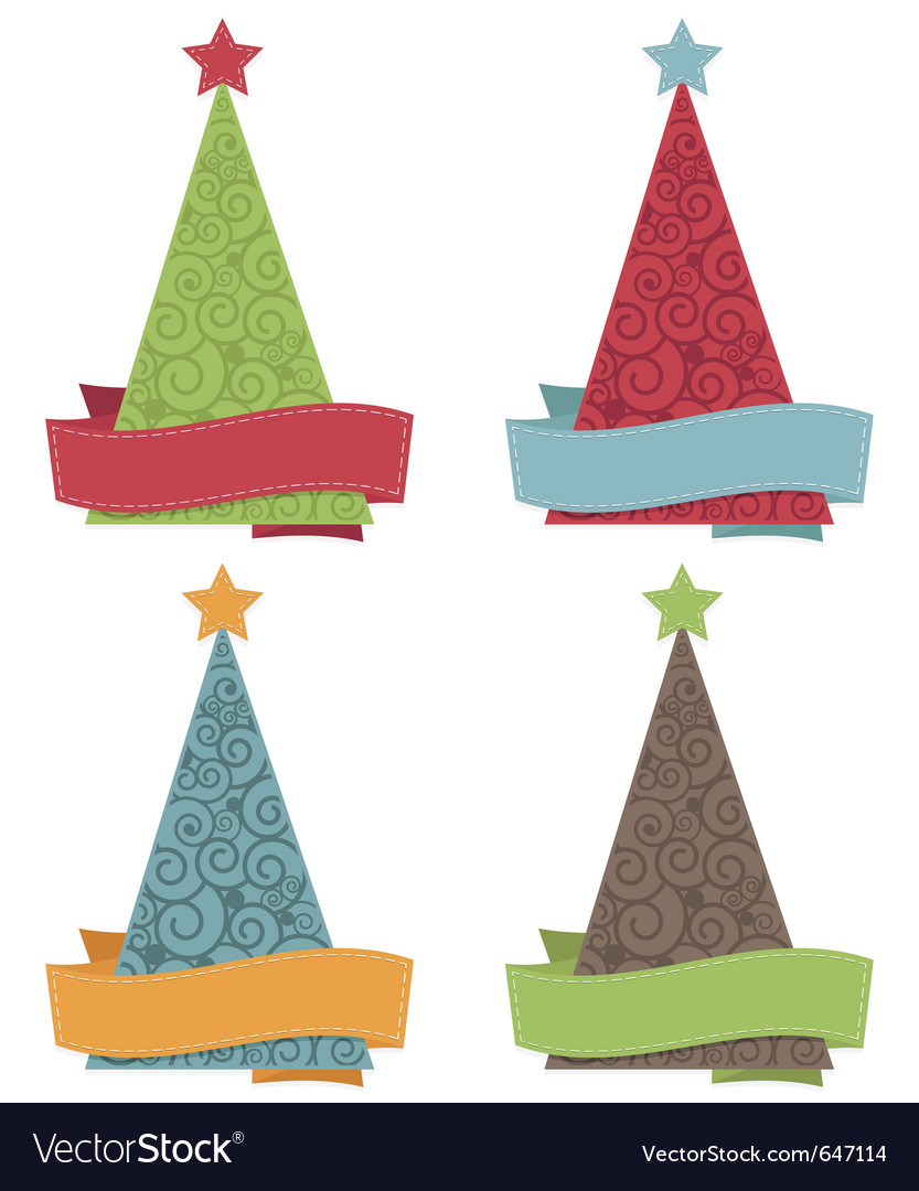 Christmas tree icons vector | Price: 3 Credit (USD $3)