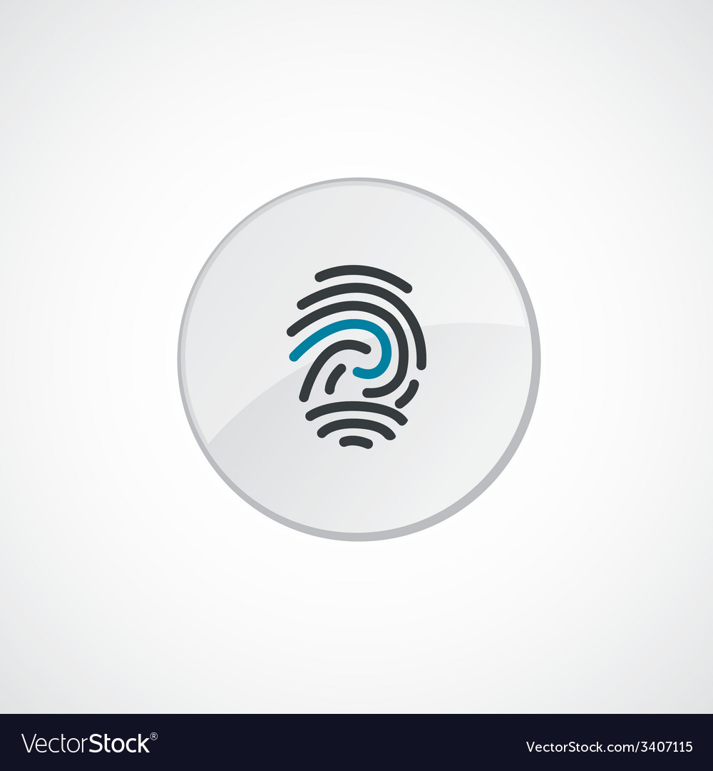 Fingerprint icon 2 colored vector | Price: 1 Credit (USD $1)