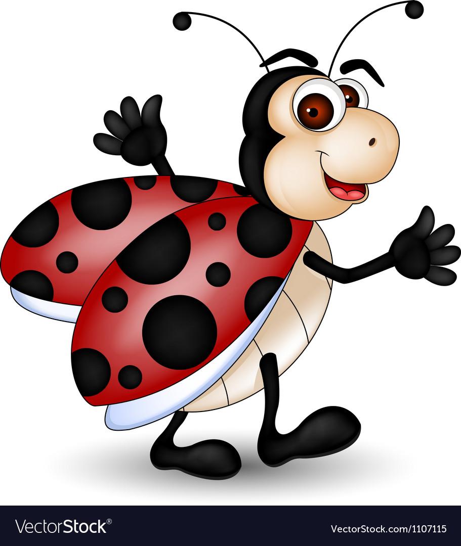Happy ladybug vector   Price: 1 Credit (USD $1)