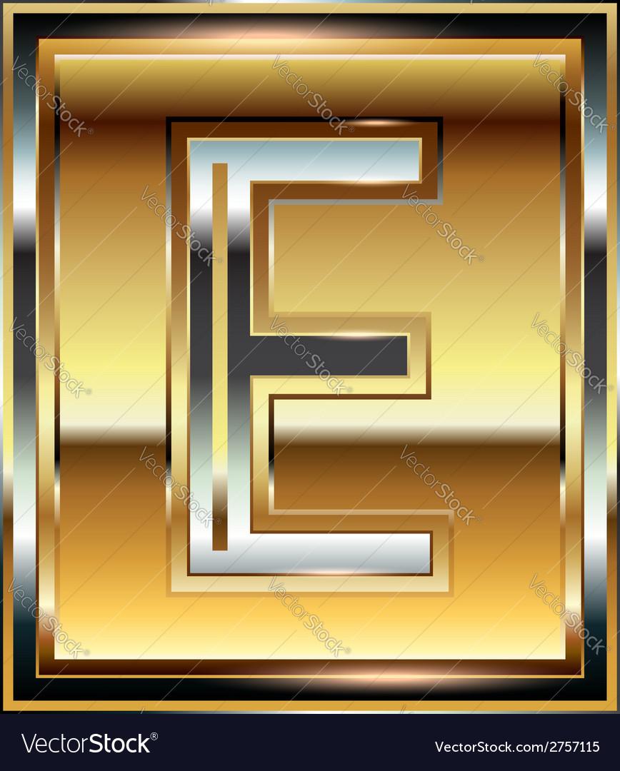 Ingot font letter e vector | Price: 1 Credit (USD $1)