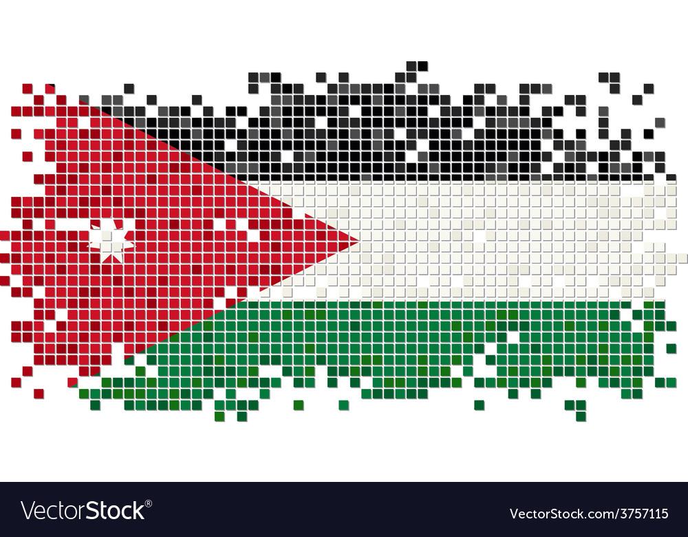 Jordan grunge tile flag vector | Price: 1 Credit (USD $1)