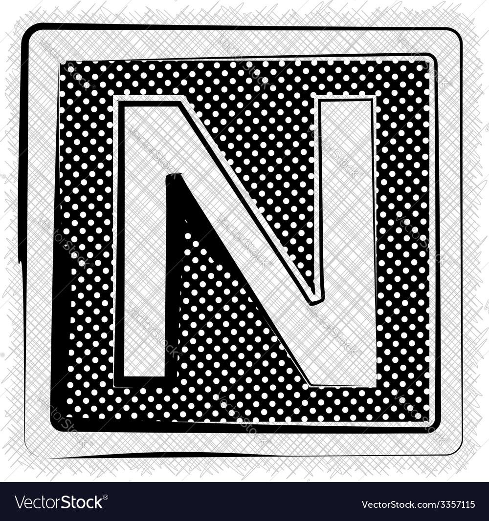 Polka dot font letter n vector   Price: 1 Credit (USD $1)