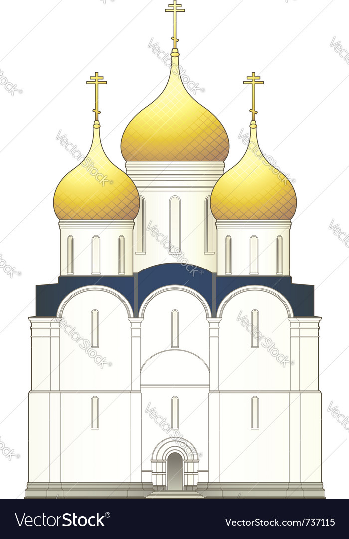 Russian church vector | Price: 1 Credit (USD $1)