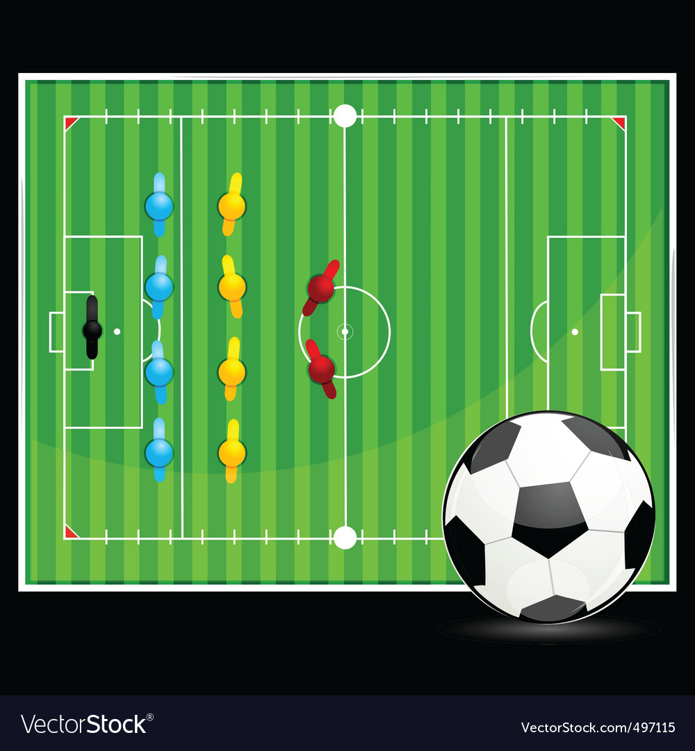 Soccer ball with ground display vector | Price: 1 Credit (USD $1)