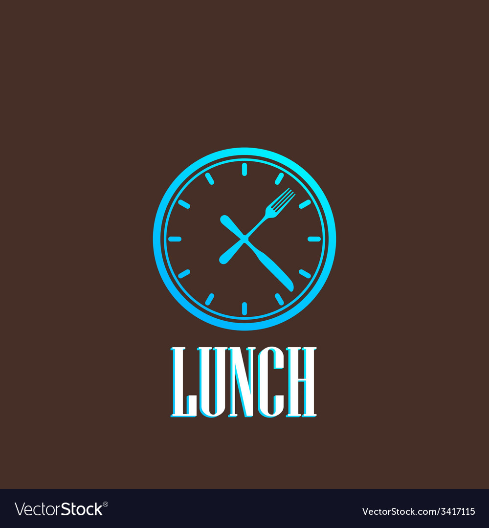 With lunch time icon vector   Price: 1 Credit (USD $1)