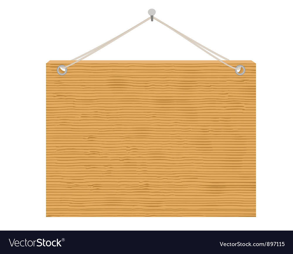 Wooden notice board vector | Price: 1 Credit (USD $1)