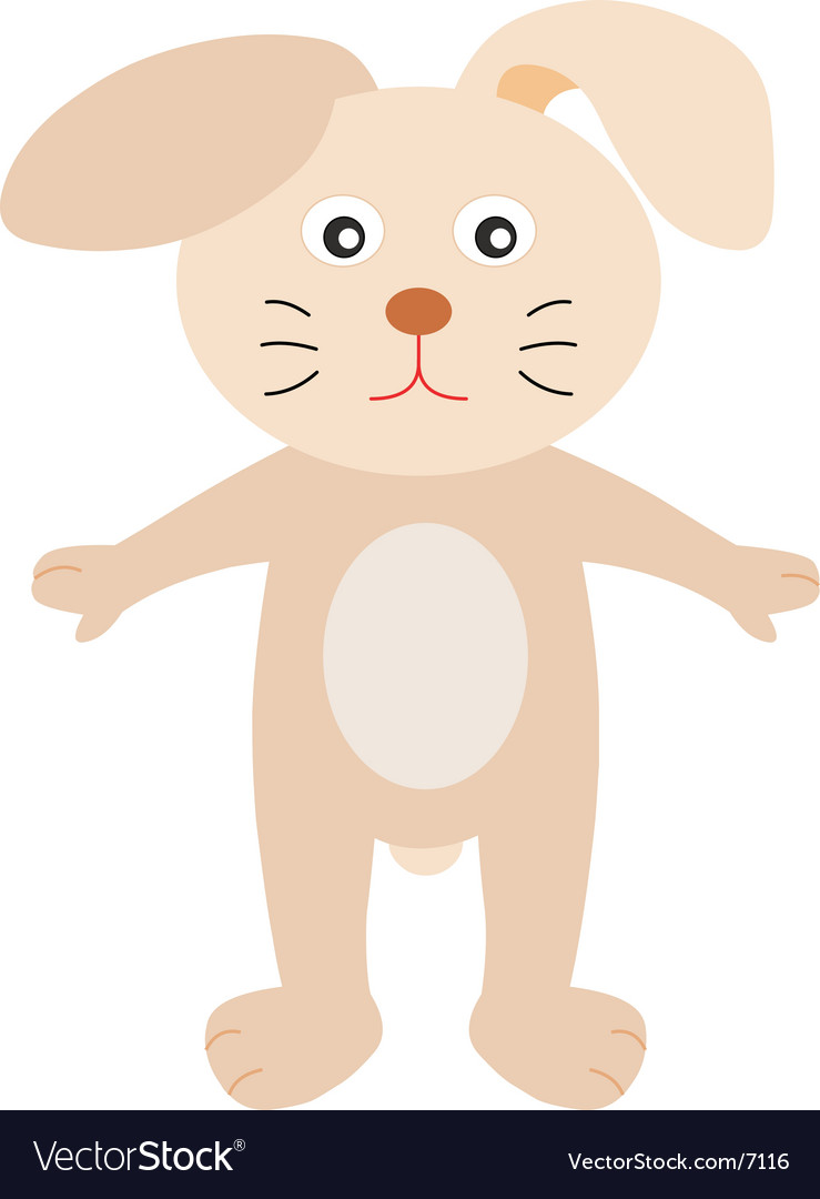A cute s bunny cartoon vector | Price: 1 Credit (USD $1)