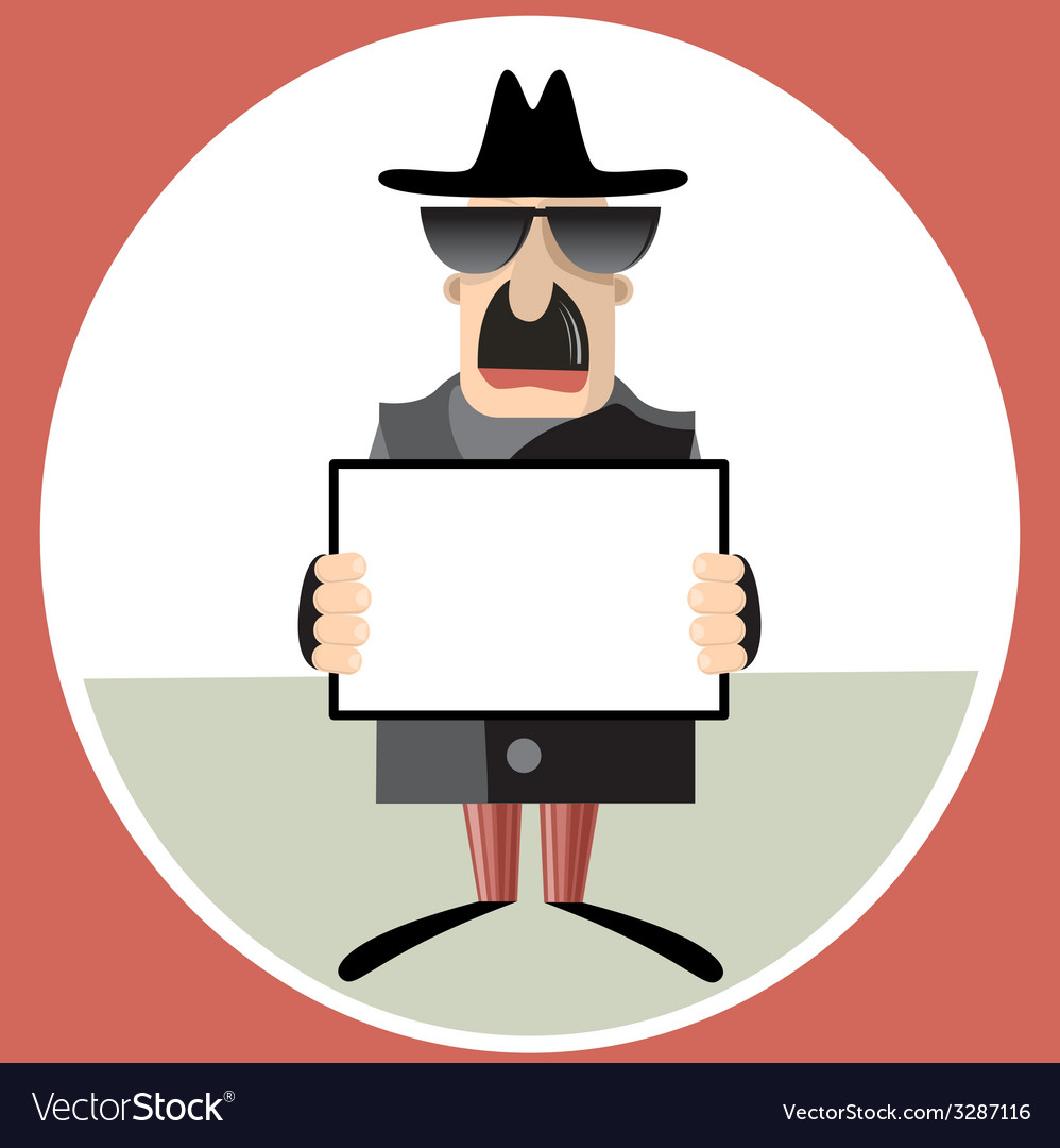 Abstract of spy holding paper sheet vector | Price: 1 Credit (USD $1)